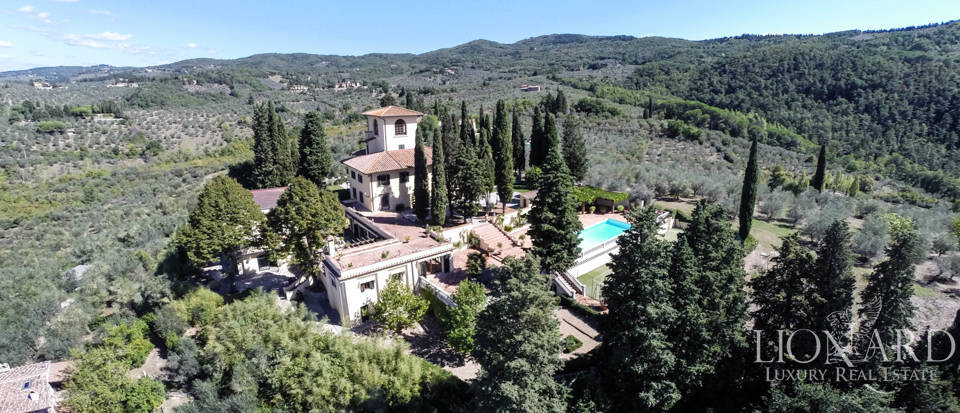 luxurious villa with panoramic view near florence