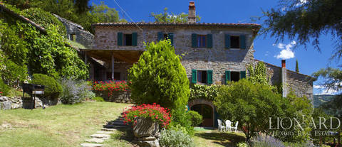 traditional tuscan villa with pool for sale near florence