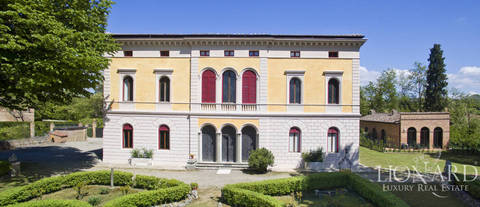splendid art nouveau style luxury villa in siena
