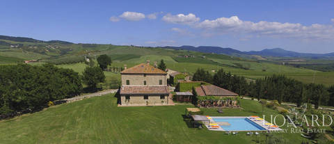 typical tuscan luxury villa for sale in siena