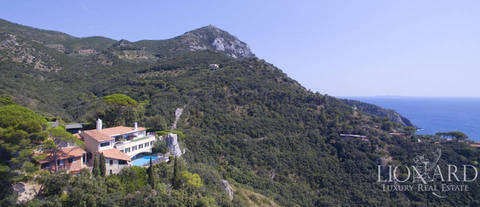 luxury villa with swimming pool on mount argentario