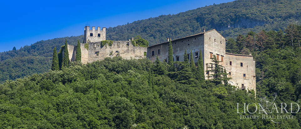 Evocative medieval castle on Trentino