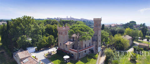 magnificent castle for sale in perugia