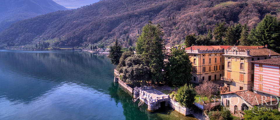 historical palace for sale by lake iseo