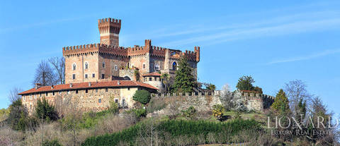 magnificent 17th century castle in piedmont