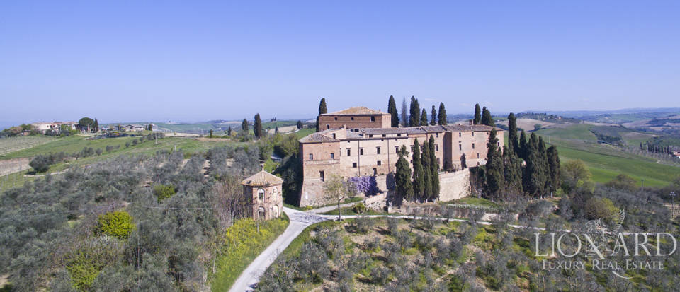 Medieval castle in Siena