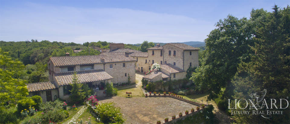 typical tuscan resort for sale in san gimignano