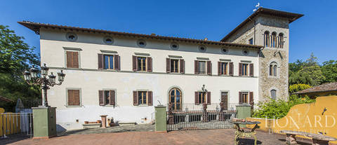 prestigious villa with swimming pool near florence