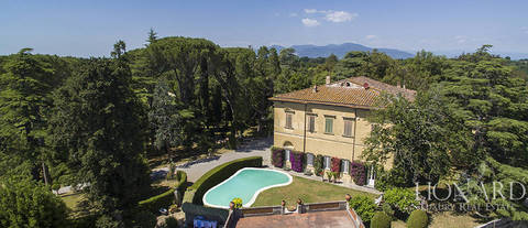 historical luxury villa for sale in the province of pisa