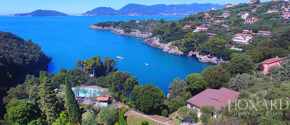 sea-front villa for sale in lerici