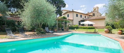 luxury villa with swimming pool in florence s countryside