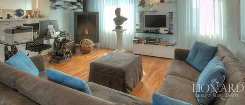 prestigious penthouse for sale in central bergamo