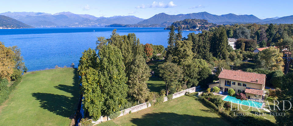 magnificent villa for sale in front of lake maggiore