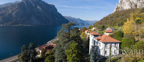 art nouveau villa with a view of the lake for sale in lecco
