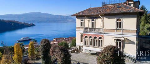 art nouveau villa with an extraordinary lake view