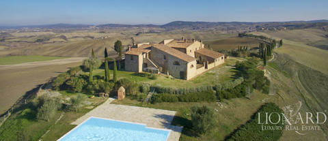 wonderful farmstead with swimming pool for sale in siena