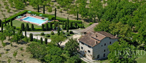 stunning agritourism resort with swimming pool for sale in siena