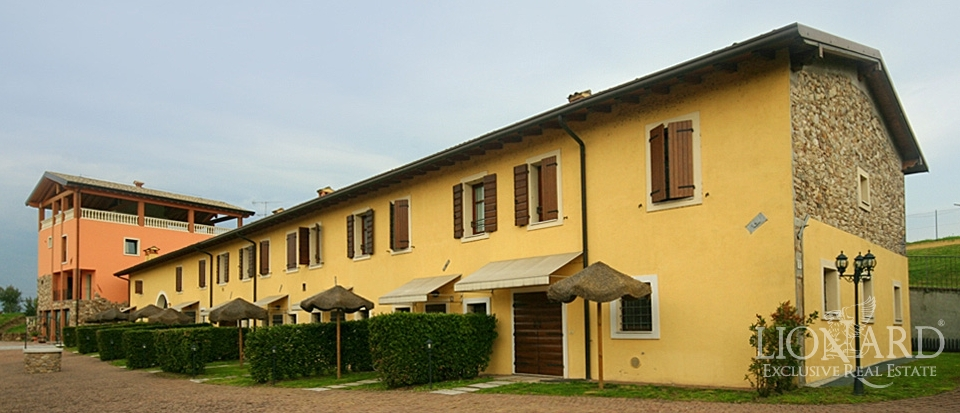Tourist residential complex on Garda Lake