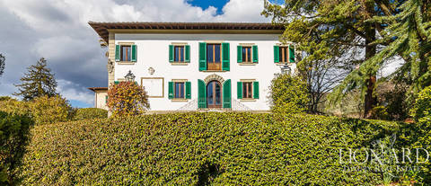typically tuscan luxury villa in pistoia