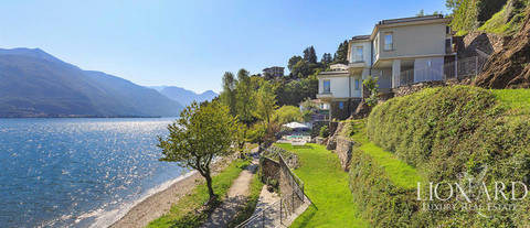 lake front villa in pianello del lario