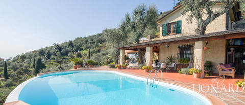 exclusive villa with sea view for sale in pietrasanta