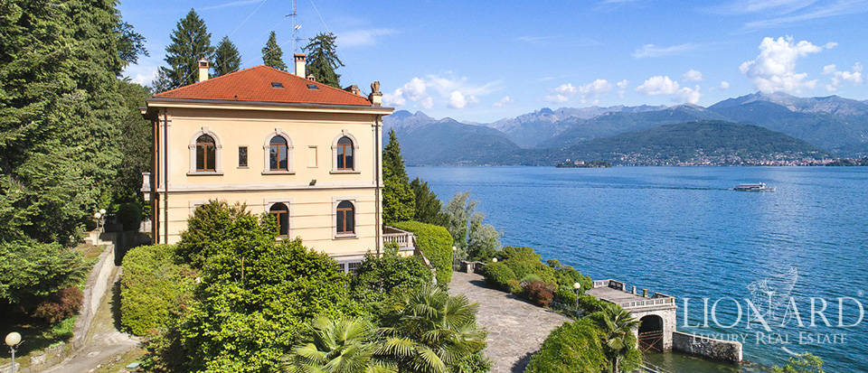luxury lake-front villa for sale in stresa