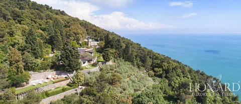 luxury sea front villa for sale in lerici