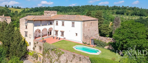 majestic castle for sale in the province of florence