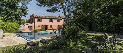 stunning luxury villa with swimming pool near pesaro