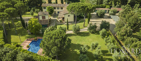 luxury villa with swimming pool for sale near florence