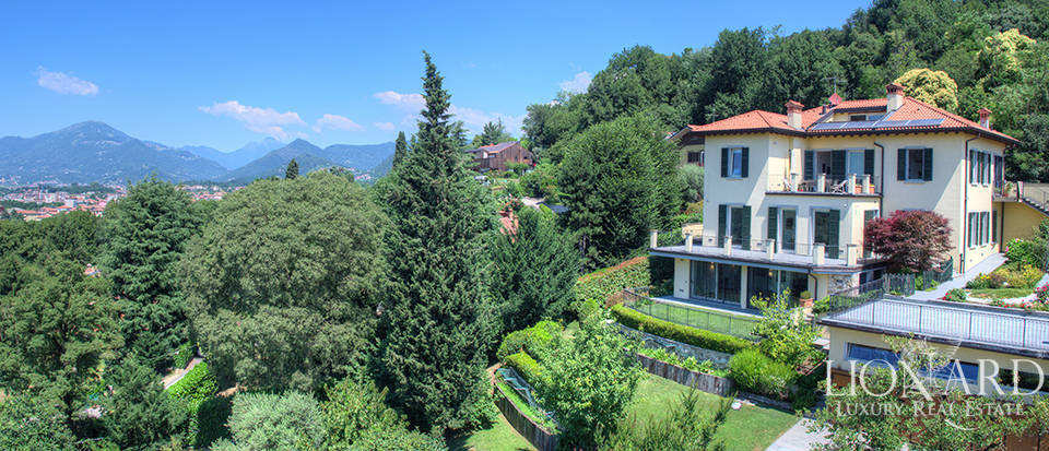 stunning villa with a view of bergamo alta for sale