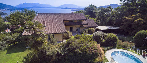luxury villa with a panoramic view for sale by lake maggiore