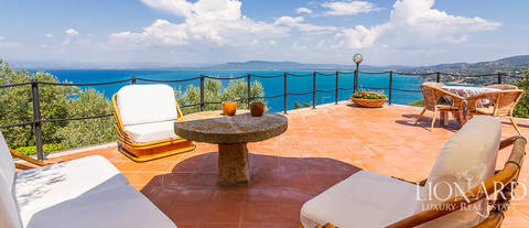 enchanting sea front villa for sale in mount argentario