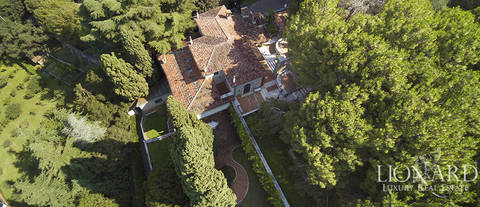 villa with wonderful view of brescia for sale