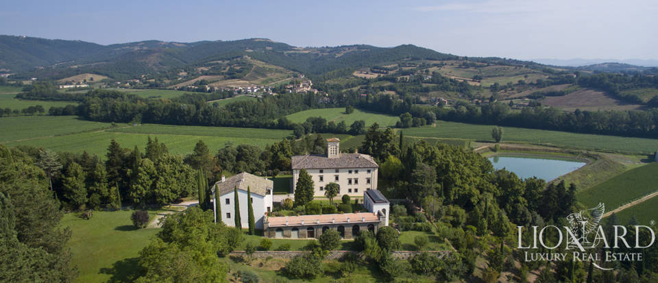 luxury villa surrounded by a luxuriant park for sale