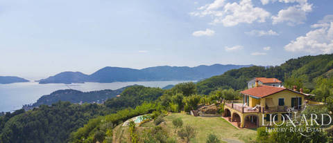 wonderful villa with sea view for sale in liguria