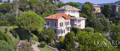 sea front art noveau villa for sale in rapallo