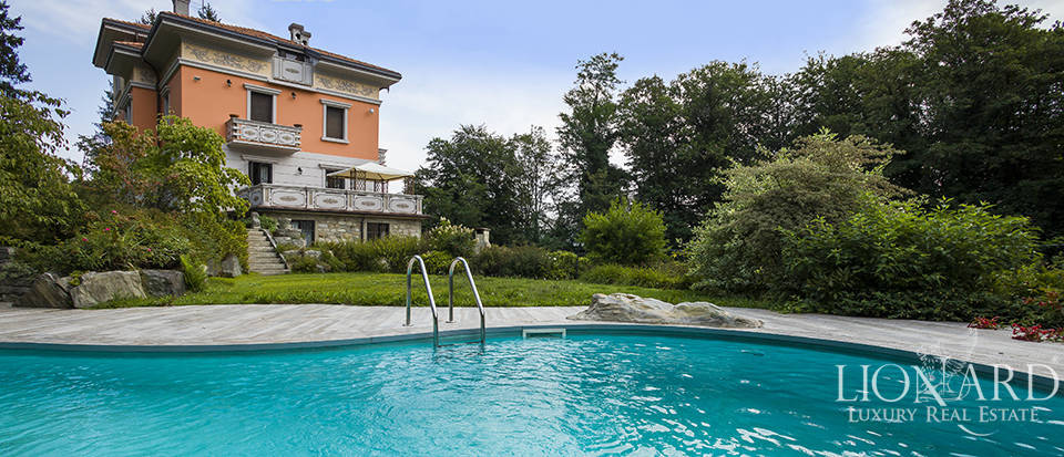 stunning lake front luxury villa for sale in piedmont