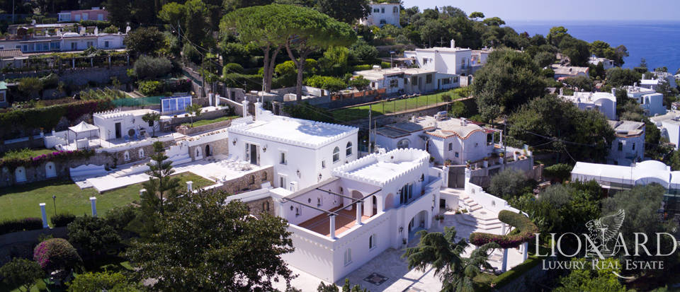 spectacular villa with view over capri s sea for sale