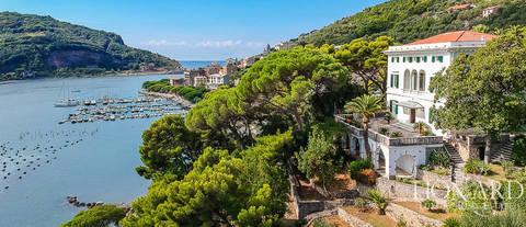 wonderful luxury villa in front of the sea in portovenere