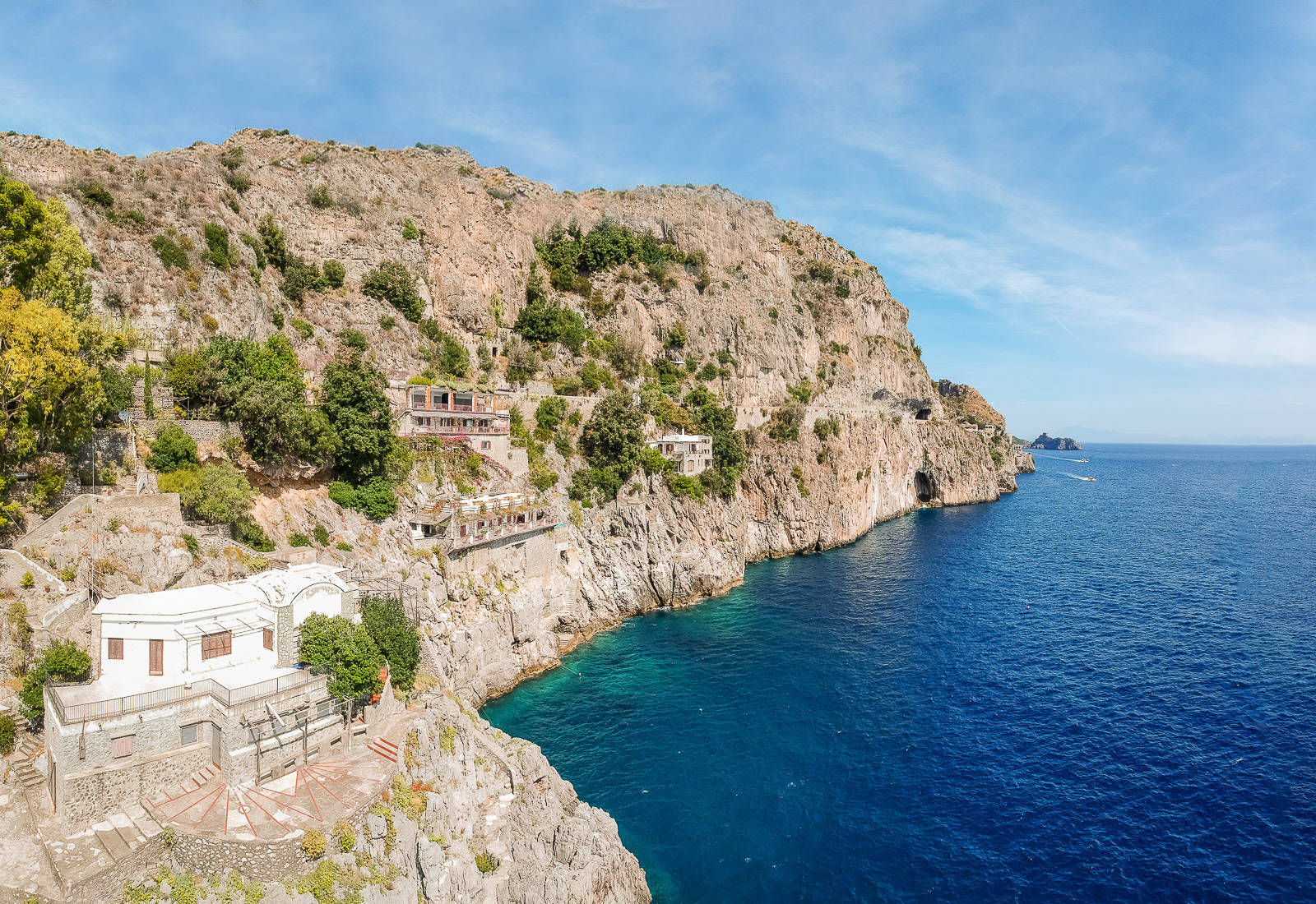 sea-front villa for sale in Furore, near Amalfi