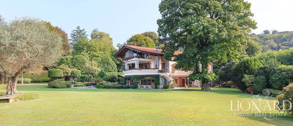 luxury villa with a view of lake maggiore
