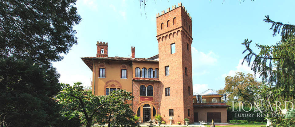 charming castle for sale in the province of novara