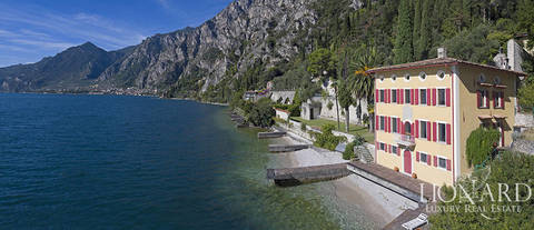 lake front villa for sale in limone sul garda