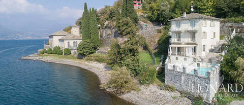 villa in front of the lake for sale in the province of lecco