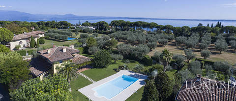 stunning villa with a view of lake garda