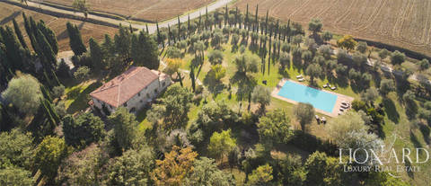 stunning farmstead with swimming pool for sale in val d orcia
