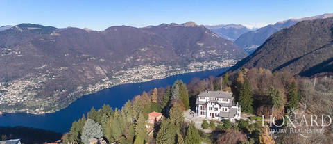 wonderful villa with a view of lake como for sale