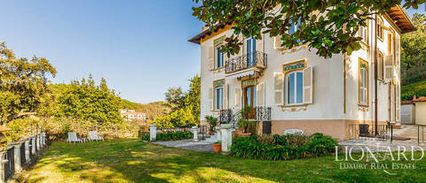luxury estate with sea view for sale in la spezia