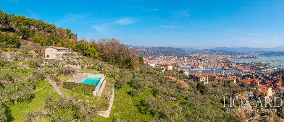 stunning villa with panoramic swimming pool in la spezia
